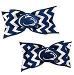 Penn StateTux Pair Chevron Bows