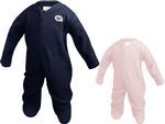 Penn State Infant Fleece Romper NAVYWHITE