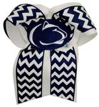 Penn State Chevron Cheer Bow