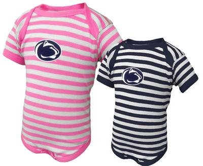 The Family Clothesline - Penn State Infant Logo Only Lap Shoulder Creeper
