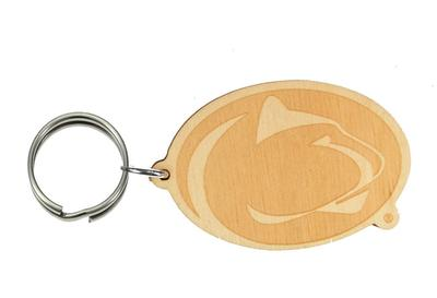 MCM Group - Penn State Etched Birch Logo Keychain