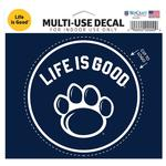 Penn State Life is Good Decal NAVYWHITE