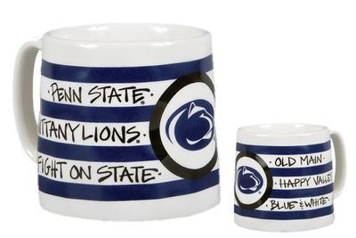 Magnolia Lane - Penn State 16 oz. Stripe Ceramic Mug