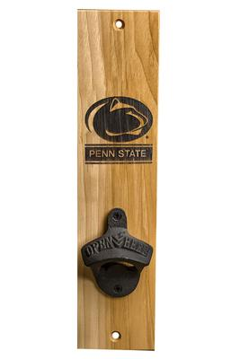 Timeless Etching Co. - Penn State Barrel Stave Bottle Opener Mount