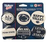 Penn State Variety Buttons 6 Pack NAVYWHITE