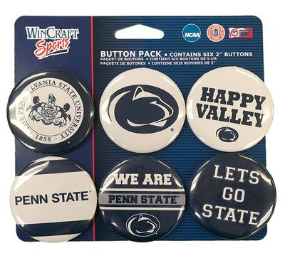 Wincraft - Penn State Variety Buttons 6 Pack