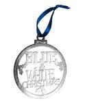 Penn State Steel Blue & White Christmas Ornament