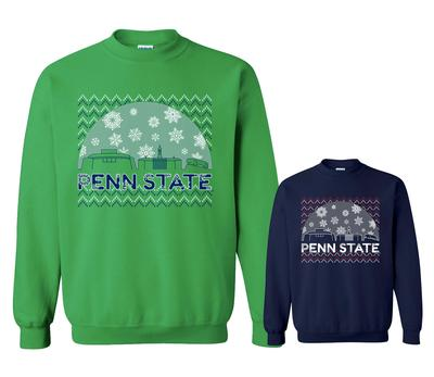 The Family Clothesline - Penn State Adult Snow Globe Holiday Crew