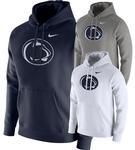 Penn State Nike Men's NK PO Fleece Club Hood DARK GREY