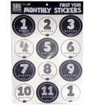 Penn State Baby 1st Year Monthly Sticker Sheet NAVYWHITE