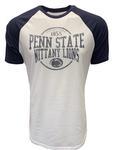 Penn State Men's Hudson Raglan T-Shirt WHITENAVY