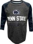 Penn State Toddler Color Block Slater Long Sleeve GREYNAVY