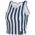 Penn State Women's Spirit Stripe Crop Top NAVYWHITE