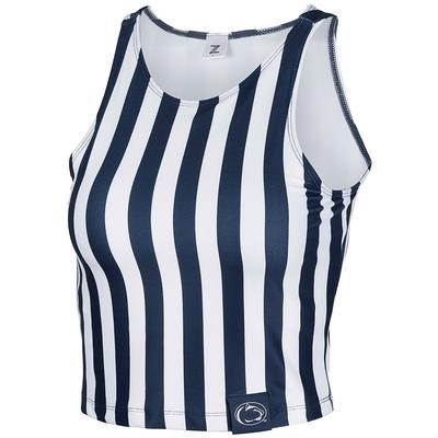 ZooZatz - Penn State Women's Spirit Stripe Crop Top