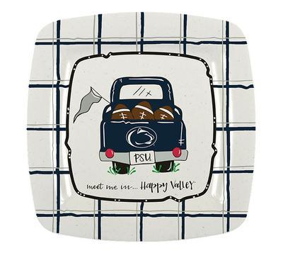 Magnolia Lane - Penn State Square Melamine Meet Me Plate
