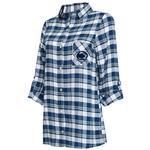 Penn State Women's Piedmont Flannel Nightshirt NAVYWHITE