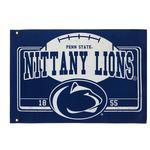 Penn State Estate Linen Flag NAVYWHITE