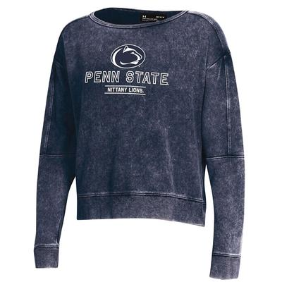 UNDER ARMOUR - Penn State Under Armour Women's Washed Terry Crew Sweatshirt