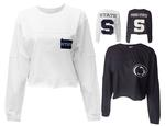 Penn State Women's Fight Song Cropped Long Sleeve