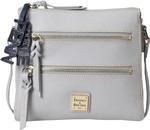 Penn State Dooney & Bourke Women's Peyton Triple ZIp Bag GREY