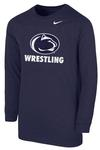 Penn State Nike Youth Wrestling Long Sleeve T-shirt NAVY