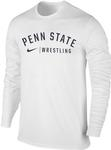 Penn State Nike Men's Wrestling Long Sleeve T-Shirt WHITE