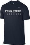 Penn State Nike Men's Lacrosse Bar T-Shirt NAVY