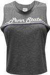 Penn State Women's Banner Crop Top T-shirt GREY