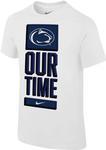 Penn State Nike Men's Dri-Fit Basketball Bench T-Shirt WHITE