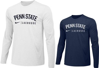 NIKE - Penn State Nike Lacrosse Long Sleeve Shirt