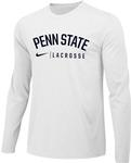 Penn State Nike Lacrosse Long Sleeve Shirt WHITE