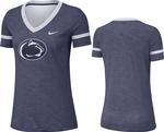 Penn State Nike Women's Slub V-Neck T-Shirt NAVY