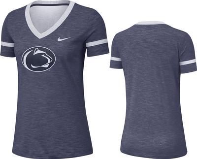 NIKE - Penn State Nike Women's Slub V-Neck T-Shirt