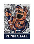 Penn State Mascot Garden Flag by Justin Patten