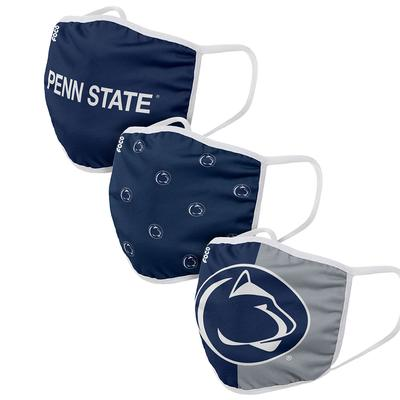 Forever Collectibles - Penn State 3 Pack Face Masks