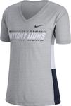 Penn State Women's Breathe V-neck T-shirt HEATHER GREY