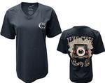 Penn State Women's Off Road V-neck T-Shirt NAVY