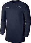 Penn State Nike Men's Dri-fit Coach Long Sleeve Shirt