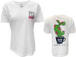 Penn State Women's Stuck On You V-neck T-Shirt WHITE