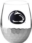Penn State Metallic Wine Glass