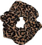 Zoozatz Leopard Scrunchie NAVYWHITE