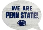 Penn State Wooden Word Bubble