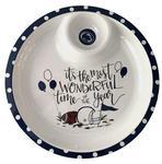 Penn State Chip and Dip Melamine Platter WHITENAVY