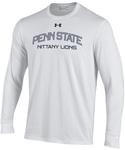 Penn State Under Armour Performance Cotton Long Sleeve Shirt WHITE