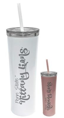 Great American - Penn State 18oz Skinny Tumbler with Straw
