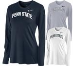 Penn State Nike Women's Long Sleeve Arc Shirt