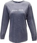 Penn State Script Mineral Wash Long Sleeve Shirt NAVY