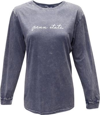 Chicka-D - Penn State Script Mineral Wash Long Sleeve Shirt