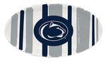 Penn State Melamine Stripe Oval Platter NAVYWHITE