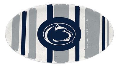 Magnolia Lane - Penn State Melamine Stripe Oval Platter
